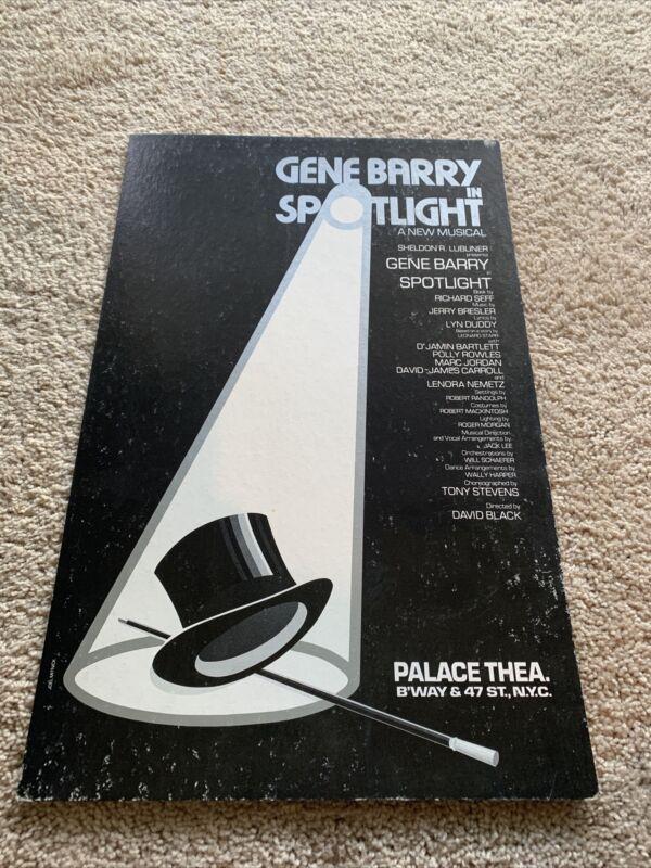 Rare 1978 Gene Barry In SPOTLIGHT The Musical Window/Lobby Card.  Broadway NY.