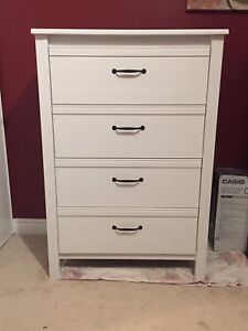 Ikea White Chest with 4 Drawers Great Condition - Free Delivery