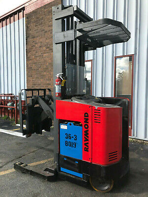 1995 Raymond Easi 3000lb Stand Up Reach Forklift. Lease From 164 A Month