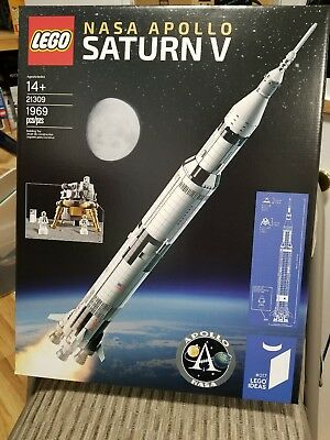 Lego Ideas Nasa Apollo Saturn V 21309   Brand New Factory Sealed   Ships In Box
