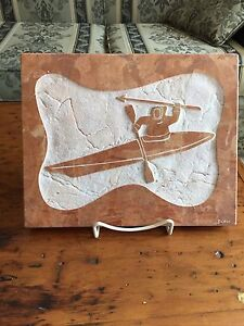 Inuit soapstone wall plaque $20