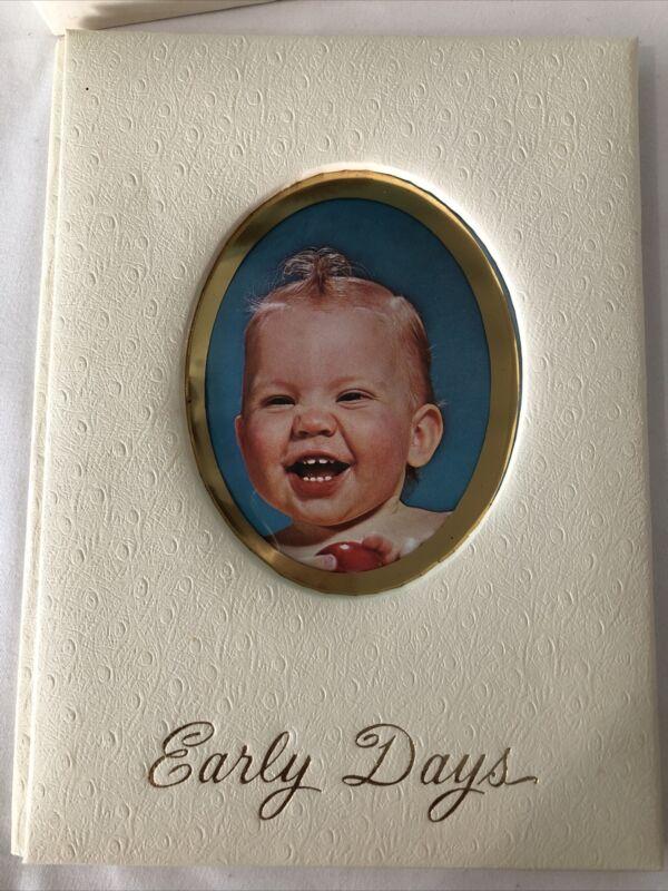 Vtg 1943 Baby Treasures Early Days Scrapbook Memory Book Album By Kalwajtys New