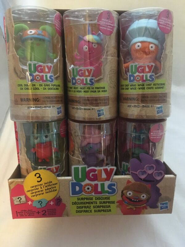 Hasbro Ugly Dolls Lot Of 6 Complete Set Sealed With Surprise Cool dude blue