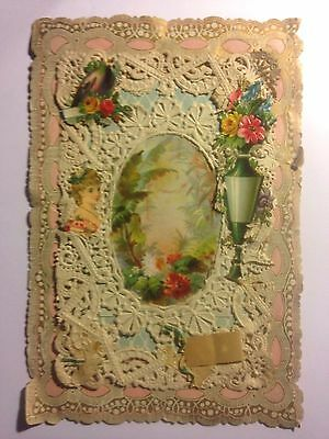 VICTORIAN LACE VALENTINE  GREETING CARD