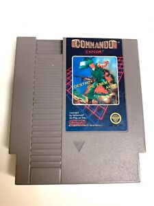 Commando ORIGINAL Nintendo NES Game Tested + Working & Authentic