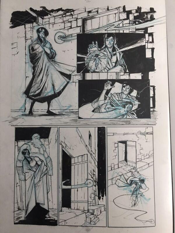 Riley Rossmo original art Rasputin Issue 3 Page 3