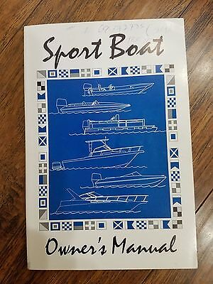 Sport boat owners manual. P/N 103896