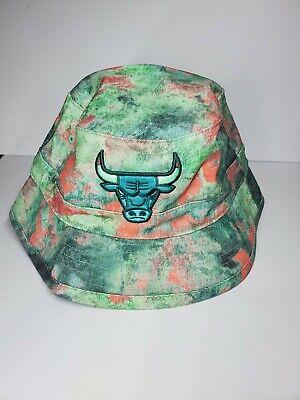 NBA Chicago Bulls Basketball Bucket Hat Mitchell & Ness NEW LG/XL