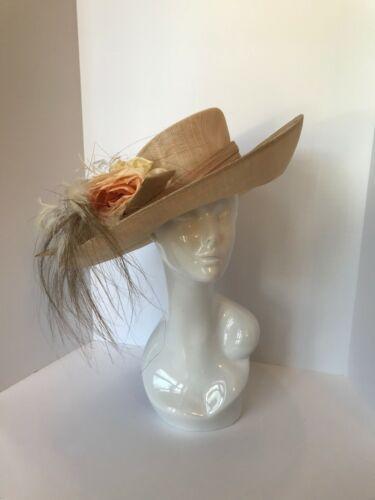NWT  PHILIP TREACY fascinator beige hat, Kentucky derby hat