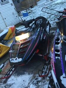 Good condition 1995 Polaris Indy 500 double with ownership