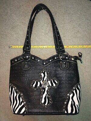 Couture Zebra - Rustic Couture Purse. Zebra. Black. New. Western. Purse.