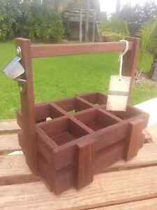 ☆Rustic Wooden Jarrah 6pk Beer or BBQ sauces holders / carriers ☆ Koongamia Swan Area Preview