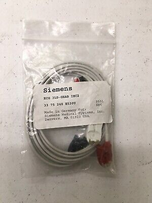 Siemens Ecg Cable And Leadwires 3 Leads 3ld-grab Iec2 3375248 E530u 9531