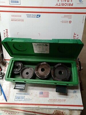 Greenlee 7304 Knockout Set From 2 12 - 4 Inch With Drawstuds Nice 9037