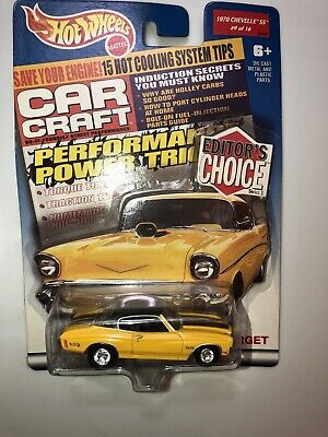Hot Wheels Target Editor's Choice 1970 Chevelle SS With Real Riders In Yellow