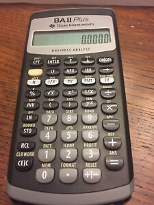 Ba plus ii finance calculator