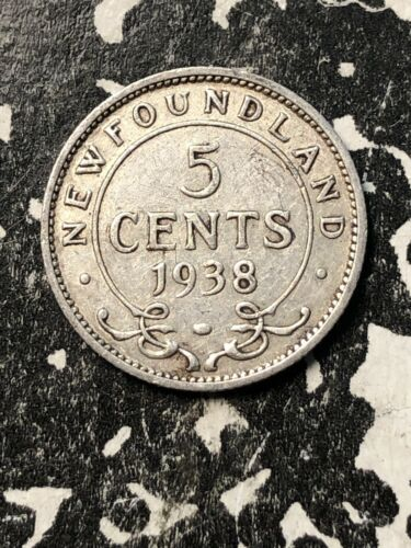 1938 Newfoundland 5 Cent (Many Available) Circulated (1 Coin Only) Silver!