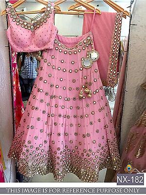 Designer Party Wear SarI Bridal Bollywood Indian Wedding Party Lehenga Choli New