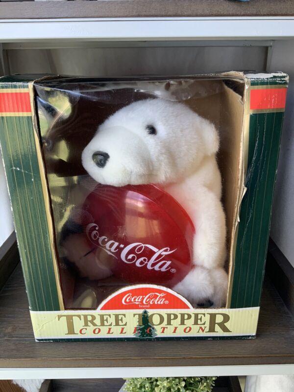 COCA COLA VINTAGE CHRISTMAS TREE TOPPER Polar Bear Collectible