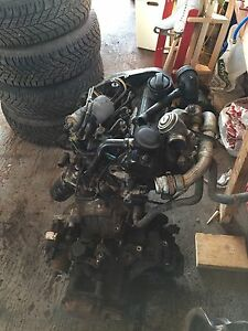 VW TDI motor and transmission