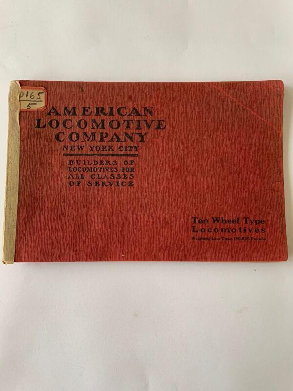 American Locomotive Company Catalogue - 10-Wheel Type Steam Locomotives