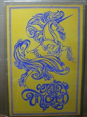 Vintage Poster The yellow unicorn 1970's in#G6169