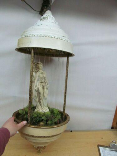 "Vintage Mineral Oil Rain Drip Motion Lamp – Greek Theme ~ 36"" Tall! (Needs Work)"