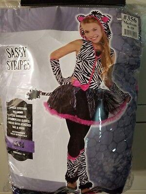 ADORABLE SASSY STRIPES CAT CHILD HALLOWEEN COSTUME MEDIUM - Cat Halloween Costumes Kids
