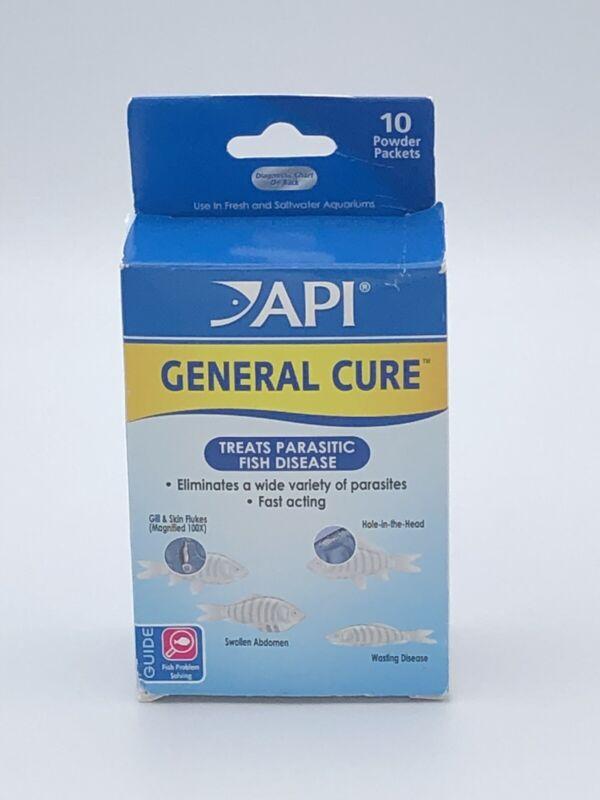API General Cure Powder, 10 Packs, Treats Parasitic Fish Disease EXP 07/2023