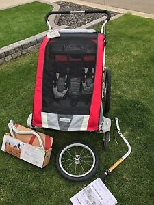 Chariot cougar double/bike trailer
