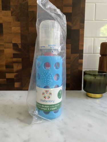 9oz baby bottle blue new