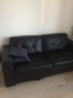Leather inspired sofa for sale $170