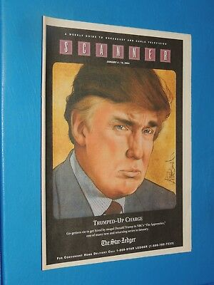 RARE 2004 PRESIDENT DONALD TRUMP APPRENTICE REGIONAL TV  GUIDE MAGAZINE NEWARK