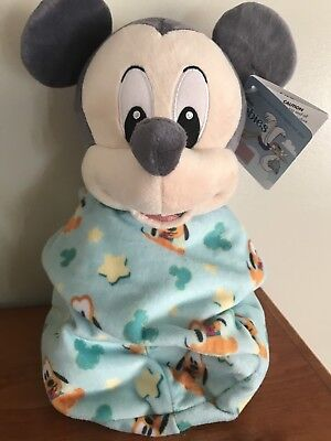 Disney Parks 2017 Mickey Mouse Baby Plush with Blanket Pouch 10