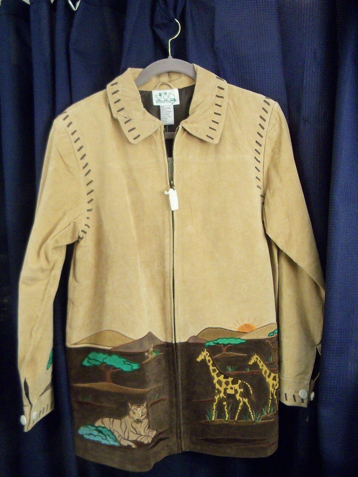 The QUAKER FACTORY Women's Leather Suede Jacket Size S Safar