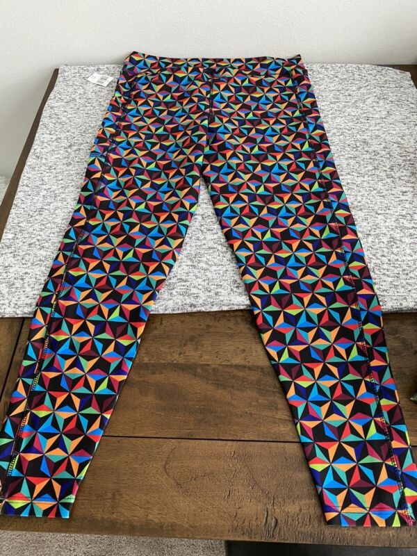 Small - 2X 2021 Disney Parks Epcot Spaceship Earth Color Block Adult Leggings