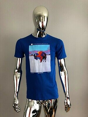 New MENS Anvil Natural Museum of Wild Art Blue T Shirt Size S