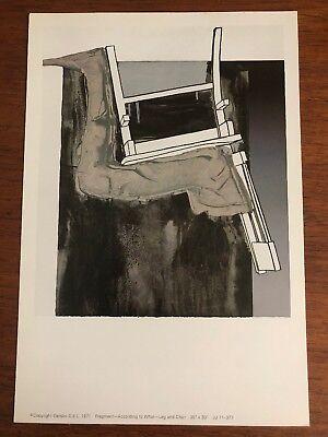 "Jasper Johns Fragment According To What ""Leg And Chair""  1971 Gemini G.E.L."