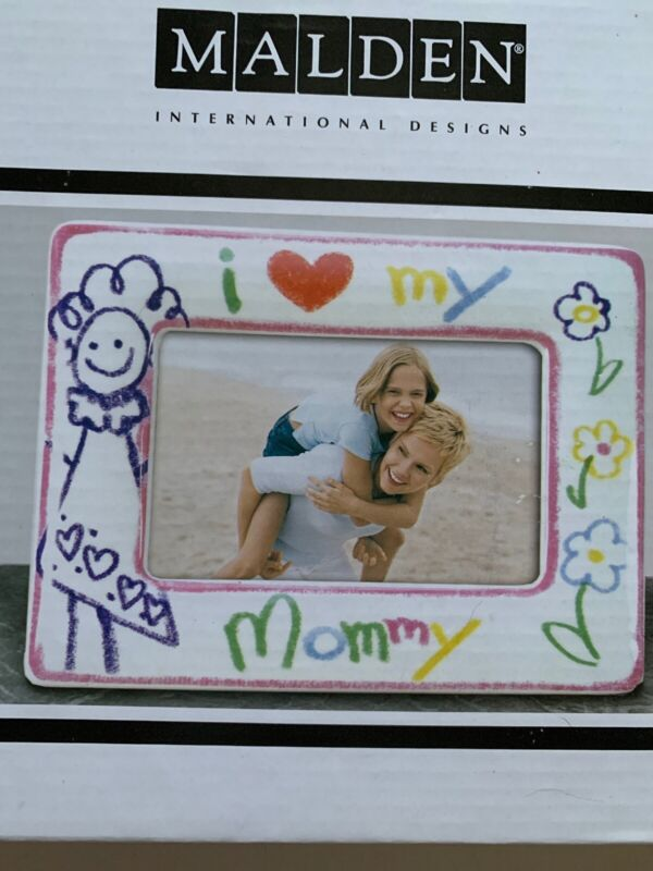 "Picture Frame 4 X 6 NEW IN BOX ""I ❤️ (Love) MY MOMMY"""