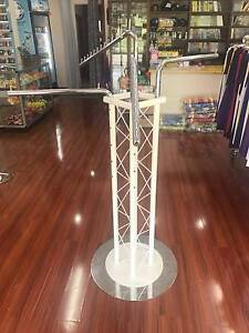 CLOTHING RACKS (5 available) 4 arms in White/Silver, used Inala Brisbane South West Preview
