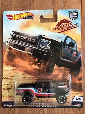 HOT WHEELS PREMIUM DESERT RALLY 2017 FORD F-150 RAPTOR Black