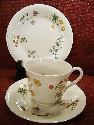 "ROYAL DOULTON ""SPRINGTIME"" Floral Tea Trio TC1113"
