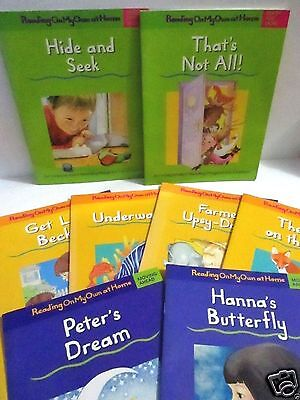 (Lot of 9 READING ON MY OWN AT HOME Free Ship Learn To Read Beginning Readers)