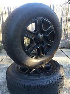 4 Ford Ranger Alloys Rims and Bridgestone Dueler H/T Tyres (50%) Narrabundah South Canberra Preview