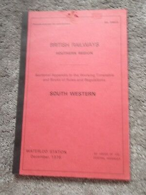 1976 B.R. - S.R. -. South Western. Sectional App. to Working TT and Rules (T265)