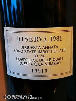 1 Sassicaia Riserva 1981 - perfetta - acquistata dal produttore.