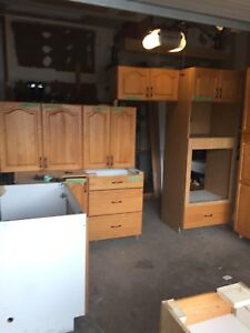 Oak kitchen cabinets Sold pending pickup