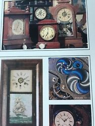 Vintage Fathers Day Card Clocks Gears Pocket Watch Wall Clock Pendulum