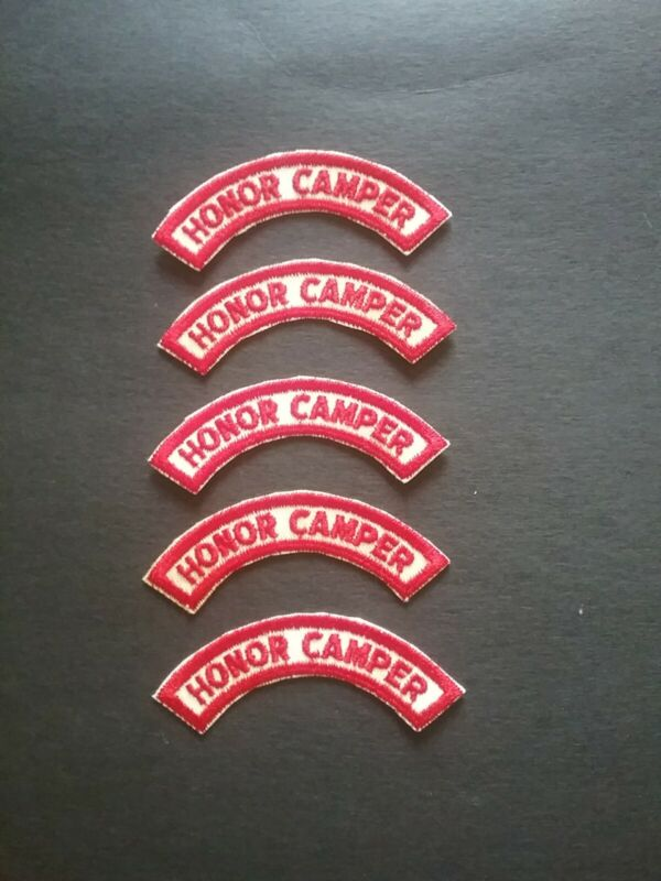 Vintage Boy Scouts Honor Camper Arm Patch Lot of (5)