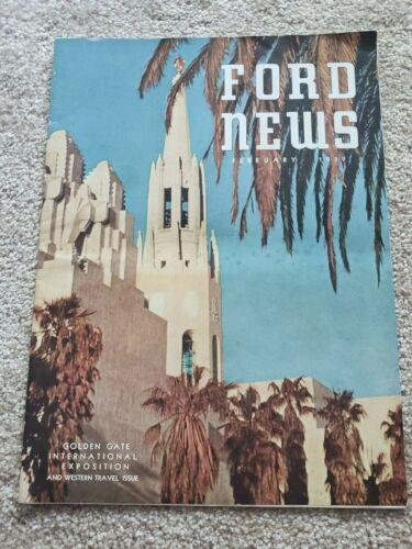 Ford News February 1939 Golden Gate International Exposition Issue
